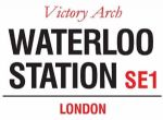 Waterloo Station London Vintage Style Metal Steel Street Sign Wall Plaque Gift